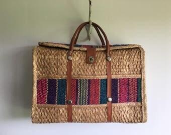 woven straw bag | beach | market | picnic