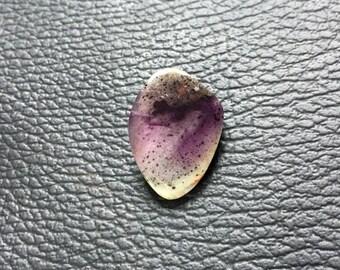 22x15x7 mm Rare Moss Amethyst Cabochon Gemstone Unshaped One Side Handmade Polish Good Quality