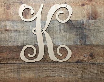 Wooden Monogram Wall Hanging monogram door hanger | etsy