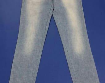 Energie jeans donna W30 Tg(IT)44 leggeri blu azzurru slim pantalone usati T2147