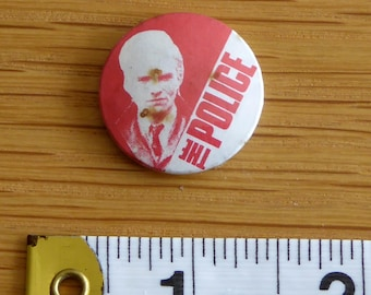 The Police (Sting) - PUNK ROCK Vintage 1970/80s Tin Badge/Button (Original)