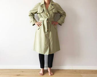 Khaki Beige Trench Coat Khaki Green Womens Trench Classic Prorsum Trenchcoat Overcoat Raincoat Preppy Beige Green Trench With Belt Large