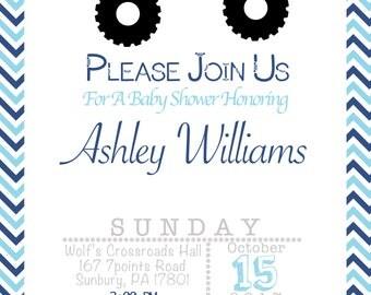 Jeep Baby Shower Invitation