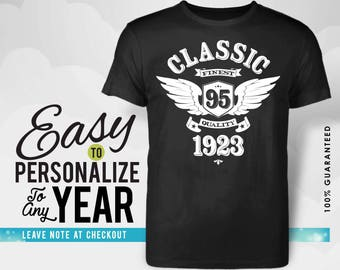 95th birthday, 95th birthday gifts for women, 1923, 95th birthday gift, 95th birthday tshirt, 95th birthday gift for men, made in 1923, gift