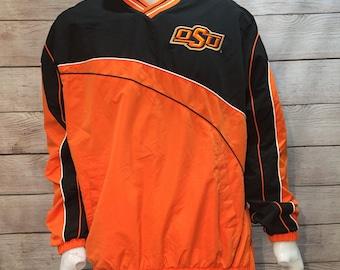 Vintage Oklahoma State University Pull over Jacket.