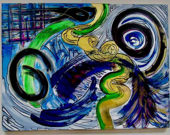 """Large Abstract Painting """"Karma"""""""
