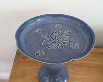 Handmade Ceramic Cake Stand, Cake Stand, Pottery, Ready to Ship, In Stock