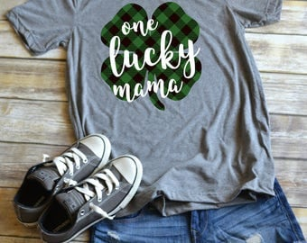 St. Patrick's Day t-shirt - ONE LUCKY MAMA