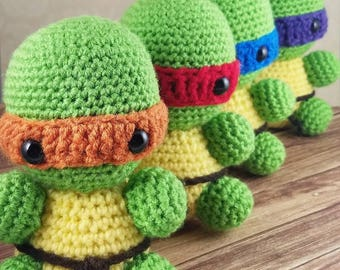 Teenage Mutant Ninja Turtles Amigurumi Pattern - TMNT Crochet Pattern