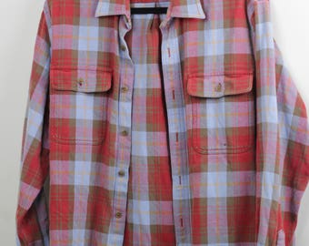 My Ex's Baby Blue and Red Flannel