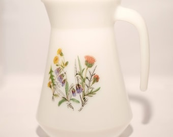 Vintage Opal Ware Pitcher - Ideal for Flowers or Summer Drinks