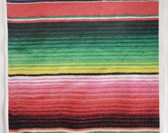"12""x12"" Serape Printed Leather"