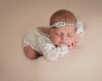 Lace Romper, Newborn Photo Prop, Baby Girl Outfit, Newborn Romper Prop, Photo Outfit, Baby Photo Prop, Newborn Prop, Photography
