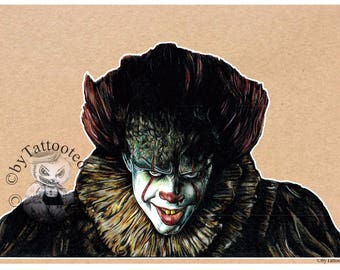 "Pennywise  - New "" IT "" Clown  - Fine Art Print - A4/A3"