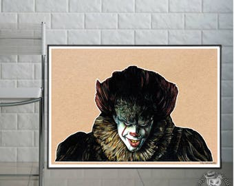 """Pennywise  - New """" IT """" Clown  - Fine Art Print - A4/A3"""
