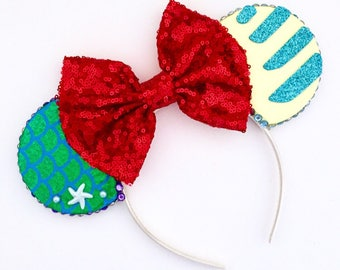 The Part of Your World - Handmade Mouse Ears Headband