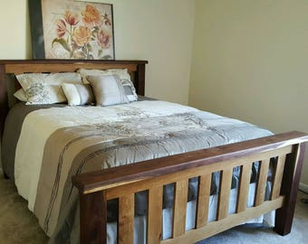 Walnut bed frame Etsy
