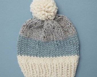 Chunky Knit Hat / Winter Hat / Womens Pom Pom Hat // THE ALBERT Free Shipping Holiday Gifts for Women