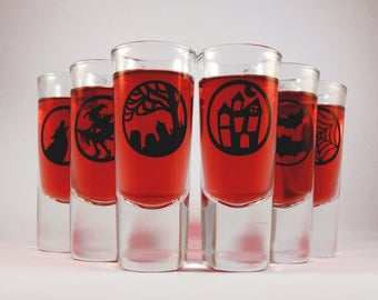 Halloween Design Shot Glasses