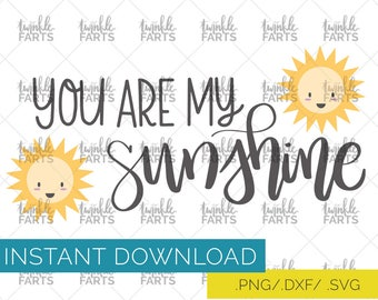 You are my sunshine cut file, Summer love SVG, newborn cut file, use with Cricut & Silhouette, Summer SVG, Instant Download