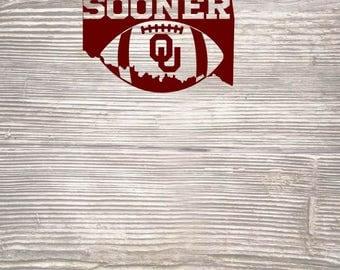 Boomer Sooner Oklahoma State ou SVG DXF Digital Cut File
