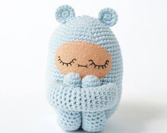 Custom Color Bear Curlie Crochet Doll Made to Order   OOAK Handmade Crochet Doll, Girls Gift, Boys Gift, Childrens Doll
