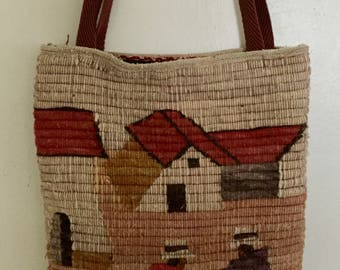 Vintage Handmade Peruvian Wool Purse, Vintage Wool Purse, Handmade Purse