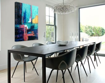 Art Painting, Contemporary Art, Palette Knife, Abstract Wall Art, Painting  Canvas Art Part 76
