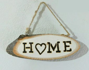 Woodburned Home Sign / Wood Decor / Home Decor / Wood Sign