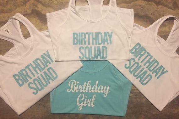 Birthday Squad Shirts Girl Crew