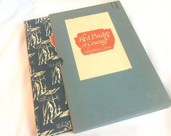 Vintage Red Badge of Courage Book - 1960 Red Badge of Courage Book By Stephen Crane