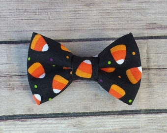 Candy Corn Dog Bow Tie / Halloween Dog Bow Tie / Orange Cat Bow Tie /  Bow Tie  / Collar Bow Tie / Pet Bow Tie / Dog Lover Gift