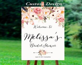 Bridal Shower sign, Bridal Shower Welcome Sign, Bridal Shower decoration, PRINTABLE Welcome sign, Bridal shower welcome sign - US_BS0107a