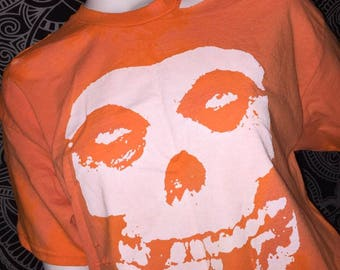 Bleached and distressed Misfits large shirt