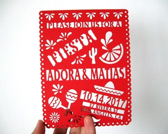 Mexican Theme Invitation Mexican Wedding Invitation Mexican Invitation Papel Picado Invitation Fiesta
