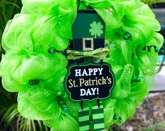 St. Patricks Day Leprechaun Wreath