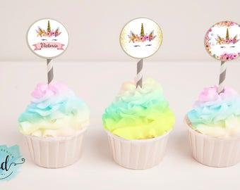 Printable Cupcake Topper Unicorn