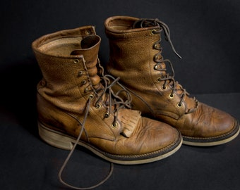 Vintage, Distressed, Justin Boots, 7.5 Mens