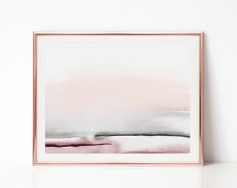 Printable Wall Art, Horizontal Wall Art, Abstract Printable Art, Minimal Art Print, Minimal Abstract Art, Simple Print, Blush Pink Print