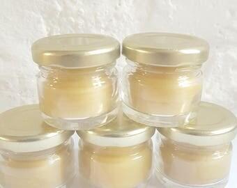 Mini cire d'abeille - partie de poule cadeau - mariages - Baby Shower - bocal Mini bougies - Table bougie - bougie dîner - parti accessoires