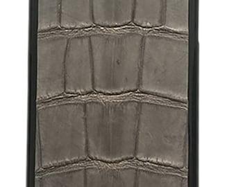 Handmade Alligator iPhone 6+ case - Gray