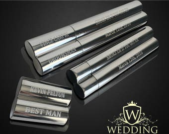 14 Groomsmen gifts  - 14 Engraved cigar cases - Gifts for him - Personalized Cigar holder - Personalize gift - Wedding gifts - Custom made