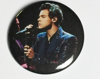 Harry Styles Pinback Button-2017 Late Late Show-2.25 inch -New