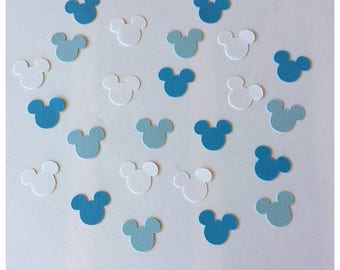 Mickey Mouse Baby Shower  Mickey Baby Shower Blue Mickey Confetti Mickey  Gender Reveal
