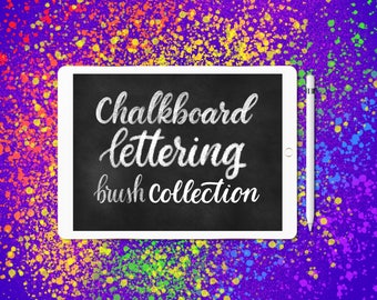 Chalkboard Procreate lettering brushes