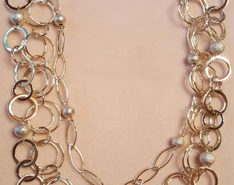 Geometric Circles and Bead chain necklace