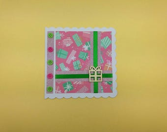 "Folded card with ""Gift"" only one matching envelope"