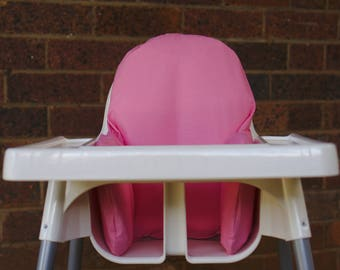 IKEA High Chair Cover To Fit Antilop Pyttig Cushion Insert - Girl Birthday Party Highchair Decor - Pear of Stitches - Pretty in Pink