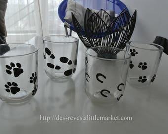Glasses - Set of 4 glasses - series prints