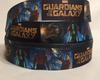 "1/3/5/10 Yards - 1"" Guardians Of The Galaxy Grosgrain Ribbon"